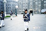 West Point Cadet walking the Area, May 98