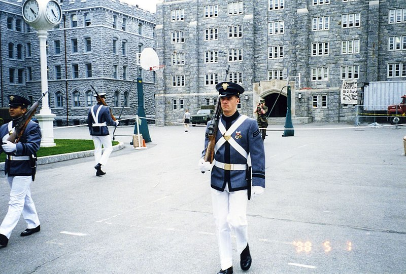 West Point Cadet walking the Area, May 98.jpg