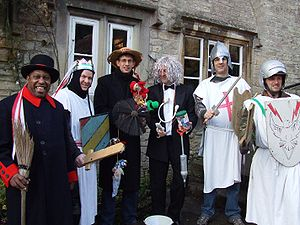 Mummers play - Weston Mummers perform at the Packhorse Inn, Southstoke on Boxing Day 2007