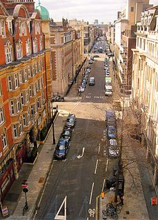 Weymouth Street street in the City of Westminster, London