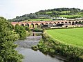 Whalley Viaduct and the River Calder - geograph.org.uk - 1455276.jpg