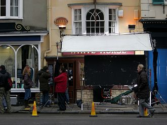 The Oxford Murders (film) - Filming at the White Horse pub, Oxford, 22 March 2007.
