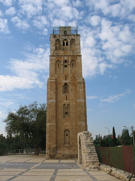 Tower of Ramla, built in the 13th century White to.jpg