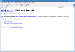 Página de erro 404 da Wikipédia