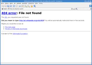 Errore 404 sul sito di wikipedia