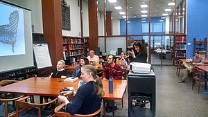 Thomas J. Watson Library - Wikipedia edit-a-thon held in the Thomas J. Watson Library (2017)
