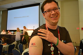 Wikipedian in Residence Dominic McDevitt-Parks shows his NARA spirit