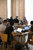 Wikimedia Hackathon Vienna 2017-05-19 Hacking Gurkerl 009.jpg