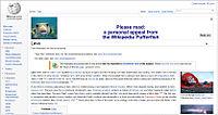 Wikipedia asking for donations screen-shoot.jpg