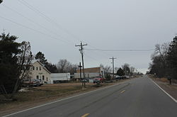 Looking north at Willard on County G.