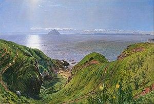 William Bell Scott - Ailsa Craig by William Bell Scott (Yale Center for British Art)