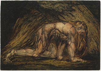 Nebuchadnezzar (Blake) - The Museum of Fine Arts, Boston impression. Probably printed in 1805.
