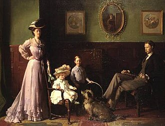 George Swinton - The family of George Swinton by William Orpen