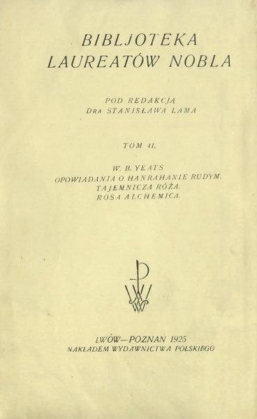 File:William Yeats-Opowiadania.djvu