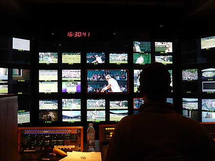 Inside Arena Television OB7's production gallery at the Wimbledon Tennis Championships, UK Wimbledon OB.JPG