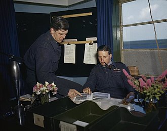 Guy Gibson - Wing Commander Guy Gibson (Right) and S/Ldr David Maltby (left) at RAF Scampton, on 22 July 1943 after the raid.
