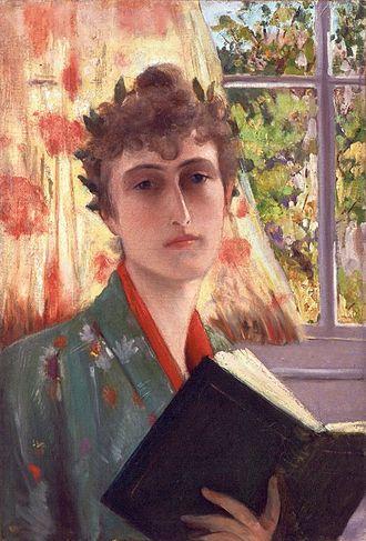 Winnaretta Singer - Self-portrait c.1885