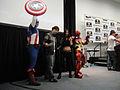 Wizard World Anaheim 2011 - Captain America, Wolverine, X-23, Iron Man (5675034524).jpg