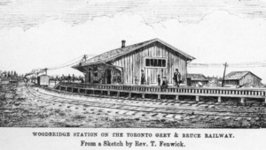 Toronto, Grey and Bruce Railway - Image: Woodbridge station on TG and B
