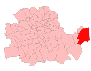 Woolwich East (UK Parliament constituency) - Woolwich East in the County of London 1918-49