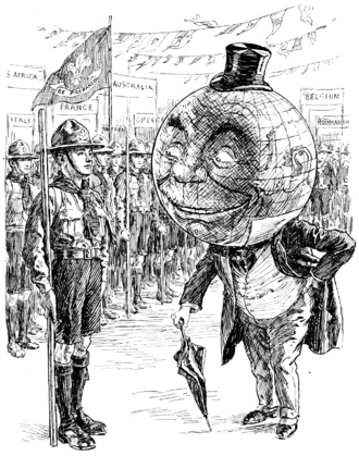 1st World Scout Jamboree - Image: World Scout Jamboree Punch cartoon Project Gutenberg e Text 16628