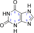 Xanthine structure.png