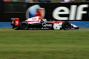 Prema Powerteam - Xavier Maassen driving for Prema Powerteam at the Donington Park round of the 2007 World Series by Renault season.