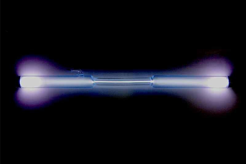 File:Xenon discharge tube.jpg