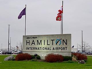 John C. Munro Hamilton International Airport international airport serving Hamilton, Ontario, Canada