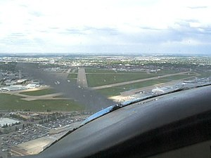 Edmonton City Centre (Blatchford Field) Airport - On approach, runway 30