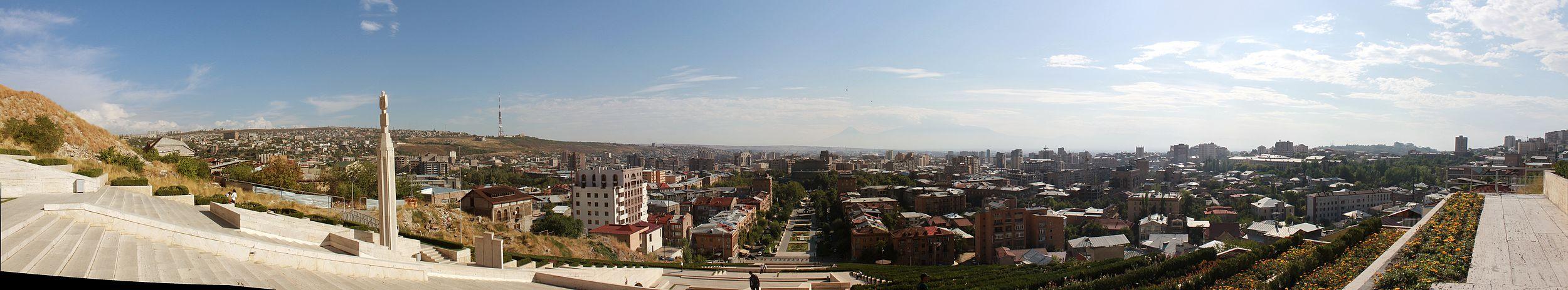 منظر بانورامي لمدينة يريفان.