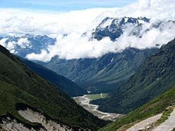 View of Yumthang Valley of Flowers Sanctuary