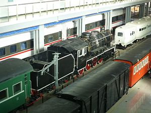 Kunming–Hai Phong Railway - Historic rolling stock from the Kunming-Hekou Railway and its branches in the Yunnan Railway Museum, at Kunming North Railway Station