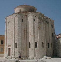 St. Donatus' Church, a pre-Romanesque church from the 9th century.