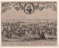 Zeeslag bij Terheide, 1653 Praelium navale inter Belgos et Anglos, Ao 1653 (titel op object) Laeste zee-slach des manhaft. ridders M.H. Tromp l. admirael van Hollandt etc. tegen die van Engelant Ao. 1653 (titel op obje, RP-P-OB-76.964.jpg