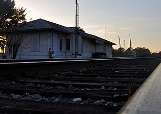 Zwolle, Louisiana - Old Zwolle Train Station on Main Street