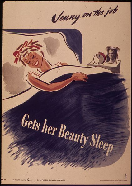 "File:""Jenny on the job - Gets her beauty sleep"" - NARA - 514682.jpg"