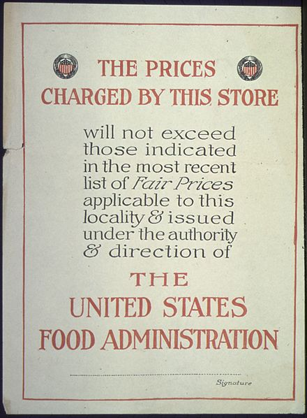 WWI poster of the United States Food Administration