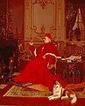 'A Quiet Smoke', painting by Georges Croegaert.jpg