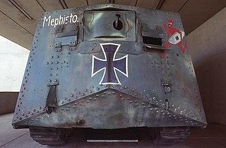 Second Battle of Villers-Bretonneux - Mephisto, German tank now held in the Queensland Museum