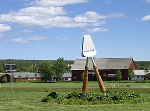 Ånäset - Statue in Ånäset