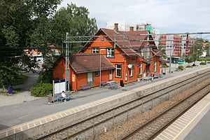 Ås, Akershus - Ås Station opened on 2 January 1879