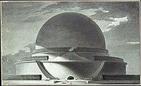Étienne-Louis Boullée, Cénotaphe de Newton - 02 - Élévation perspective.jpg