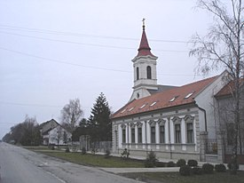 Đurđevo, Main street and the Uniate Church.jpg