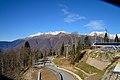 Вид из кабины фунукилера еа Кавказский хребет - panoramio.jpg