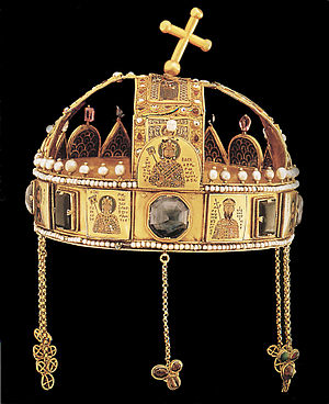 Holy Crown of Hungary - Back of Holy Crown