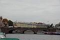 Мост Аничков с четырьмя скульптурными конными группами (Санкт-Петербург, через р. Фонтанку, по Невскому проспект).JPG