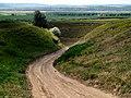 Проселочная дорога через полкилометра выведет на гравийку, идущую вдоль Прута - panoramio.jpg
