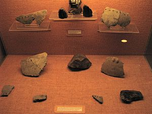 Kura–Araxes culture - Kura-Araxes pottery fragments and obsidian from the Shengavit Settlement