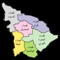 خريطة محافظة بابل - العراق حسب الأقضية.png